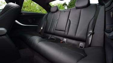 BMW 420d M Sport rear seats
