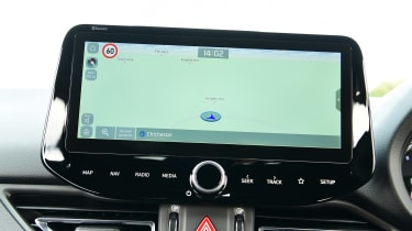 Hyundai i30 Fastback N Line infotainment display