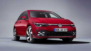 2020 Volkswagen Golf GTI  - front 3/4 view close