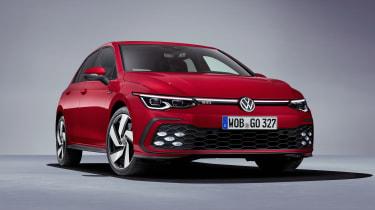 2020 Volkswagen Golf GTI  - front 3/4 view close