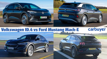 VW ID.4 vs Ford Mustang Mach-E hero