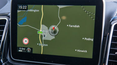 The car's infotainment system is not as good to use as rivals'