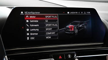 BMW M8 Competition coupe car settings