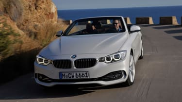 BMW 4 Series convertible front action