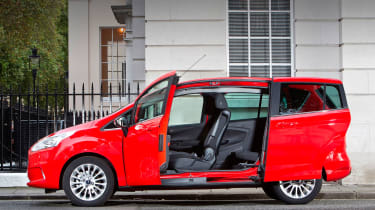 The sliding doors are ideal in tight car parks and their wide opening is great for fitting child car seats