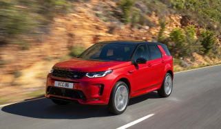 Facelifted Land Rover Discovery Sport  - front quarter dynamic