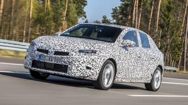 2019 Vauxhall Corsa Prototype track testing