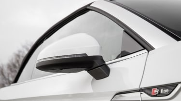 The S line badge seen here denotes the sportiest trim level and includes 18-inch alloy wheels.
