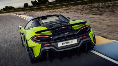 McLaren 600LT Spider convertible rear track