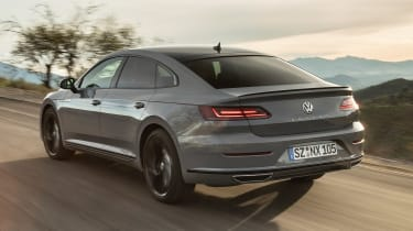 Volkswagen Arteon R-Line Edition driving away from camera