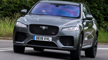 Jaguar F-Pace SUV nose cornering