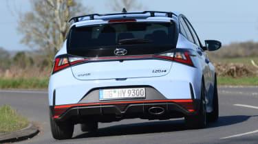 Hyundai i20 N hatchback rear cornering