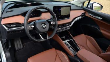 Skoda Enyaq iV SUV steering wheel