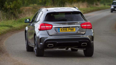 Mercedes-Benz GLA-Class AMG Line rear cornering