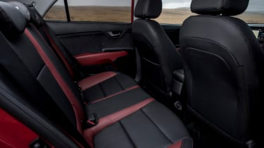Every Rio gets five doors, improving access to the accommodating rear seats. Leg room and headroom are good too