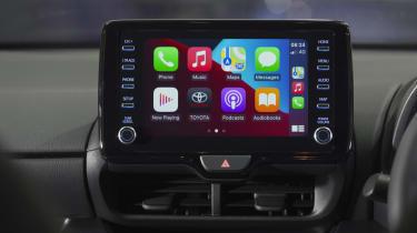 Toyota GR Yaris hatchback infotainment display