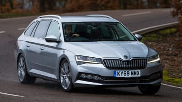 Skoda Superb Estate front driving