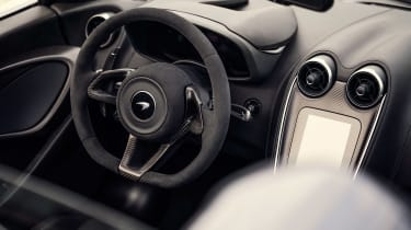McLaren 600LT Spider convertible steering wheel