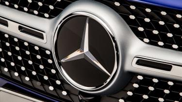 2019 Mercedes GLB - badge close up