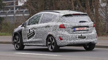 2021 Ford Fiesta in camouflage - rear