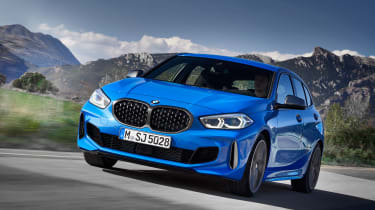 2019 BMW 1 Series M135i xDrive front quarter driver