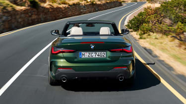 2020 BMW 4 Series Convertible driving - rear end