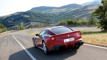 If you prefer outright thrills to continent-crossing capabilities, the Ferrari F12 may be your car