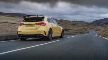 Mercedes-AMG A 45 S hatchback - rear 3/4 view