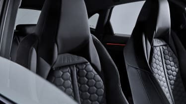Audi RS Q3 Sportback front seat detailing