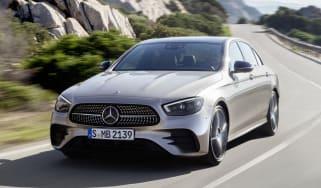 Mercedes E-Class driving