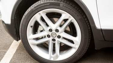 Alloy wheels are fitted as standard and 19-inch designs are even available as an optional extra
