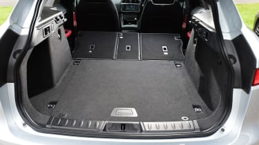 Jaguar F-Pace SUV boot seats folded down