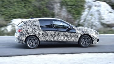 2019 BMW 1 Series pre-production panning side