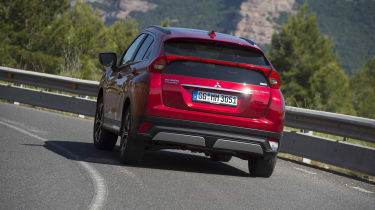 The Eclipse Cross has enough grip to hang on gamely in sharp corners....