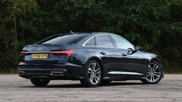 Audi A6 saloon rear 3/4 static