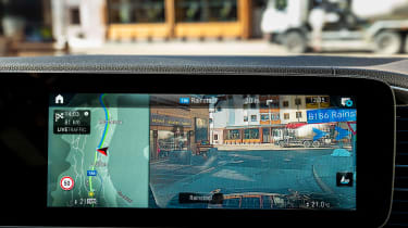 Mercedes GLE Coupe SUV augmented reality sat nav