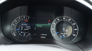 An optional digital display that runs across the instrument cluster and into the dials is a useful addition