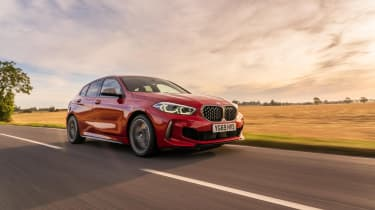 BMW M135i xDrive - dynamic front 3/4 view