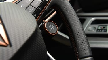 Cupra Leon hatchback steering wheel buttons