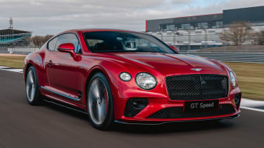 Bentley Continental GT Speed front 3/4 tracking