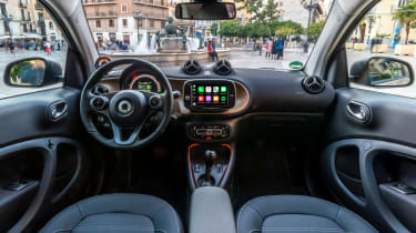 Smart EQ ForTwo hatchback interior