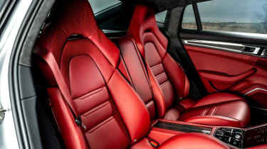 Porsche Panamera hatchback rear seats