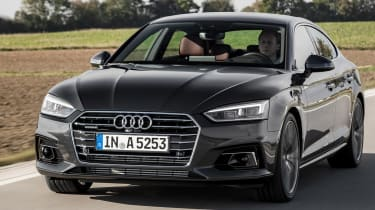 The A5 has a five-star crash safety rating from Euro NCAP and features autonomous emergency braking