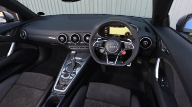 The TT RS Roadster gets the same excellent interior as other TT models, with some sporty touches