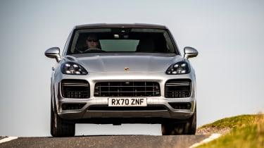 Porsche Cayenne Coupe SUV - front view cornering