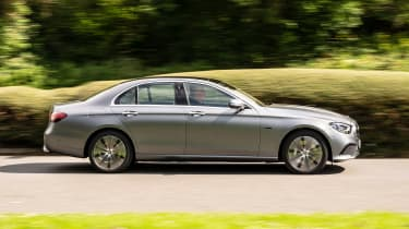 Mercedes E-Class E 300 e hybrid - side on passing