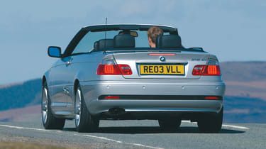 BMW 3 Series convertible - rear 3/4 tracking