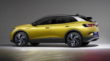 2021 Volkswagen ID.4 in yellow - side view
