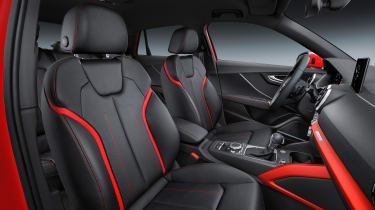 Colour-coded contrasting panels can be selected with the Milano leather option.