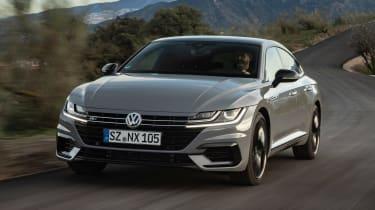 Volkswagen Arteon R-Line Edition driving on twisty road
